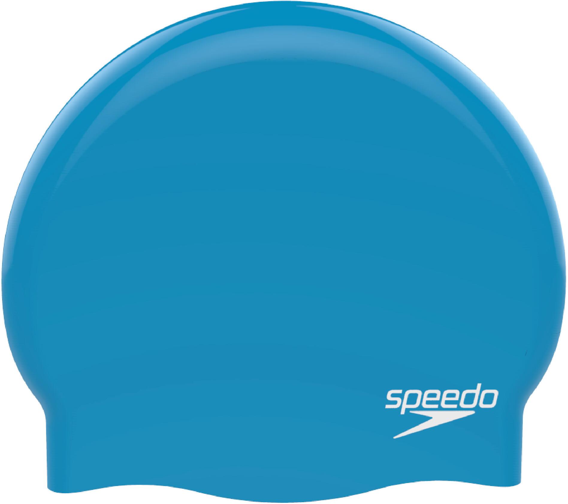 d38cf7d581115c speedo Plain Moulded Czepek pływacki, blue/chrome   Sklep Bikester.pl